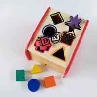 Mainan Edukatif / Edukasi Anak - Balok Puzzle Kayu - Sliding Geo/Kotak