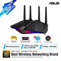ASUS RT-AX82U AX5400 Dual Band WiFi 6 Gaming Router with AiMesh