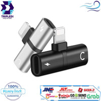 Splitter Lightning 2in1 Aux Audio Adapter TRIPLEDI Port Charger iPhone
