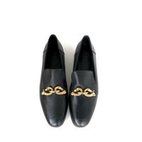 Sepatu Wanita Tory burch Supplier Jessa Leather Loafers Flat Shoes