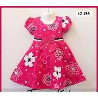 Baju Dress Anak Perempuan Terusan Umur 3-5 Tahun Bahan Katun Jepang