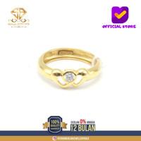 SBJ10 - cincin emas kuning asli wanita terbaru kadar 700 CMK155 R11
