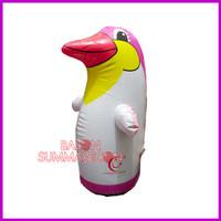 grosir balon tiup karakter pinguin pink mainan anak-anak