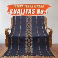 Kain Tenun Ikat Blanket Asli Troso Hitam Motif NTT Etnic