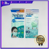 3M Masker Nexcare MD-20, Daily Mask 3+1, Masker 3M Nexcare isi 3+1 pcs