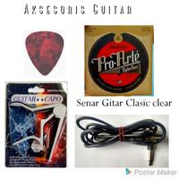 Paket aksesoris gitar capo senar jack