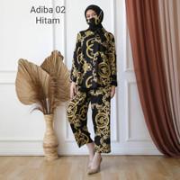 Toko Baju Trendy Set Kemeja Adiba Motif Cantik Remaja Wanita - Dusty