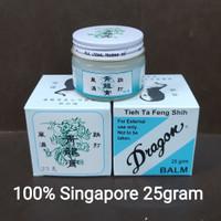 Tieh Ta Feng Shih Dragon Balm Asli Singapore Balsem Rematik Putih 25gr