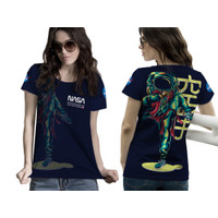Baju Kaos Tshirt Wanita Astronot Luar Angkasa Nasa 02 Custom
