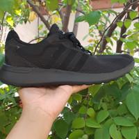 sepatu adidas cloudfoam full black original