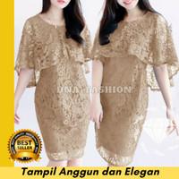 Baju Dress Maxi Gaun Pesta Wanita Modern Brukat Mewah Glamour Premium