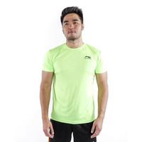 Kaos Olahraga Pria / T-shirt Bahan Dry Fit / Baju Olahraga Pria LI01 - M, Putih