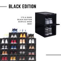 kotak sepatu akrilik dan plastik