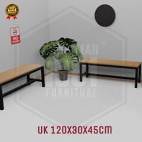 kursi taman besi panjang bangku ruang tunggu tamu minimalis modern