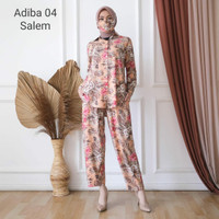 Toko Baju Set Kemeja Fashion Adiba Motif Remaja Wanita Keren - Salem
