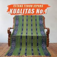 Kain Tenun Ikat Songket Blanket Troso Jepara Hijau Motif Toraja NTT