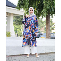 LITTLEGREYSHOP Maya Tunik Oversize Atasan Blouse Baju Wanita Muslim