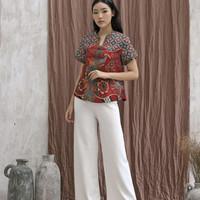Atasan Blouse batik wanita batik modern (208ABO-RED)