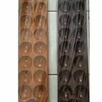 congklak kayu coklat mengkilat+120pcs kerang