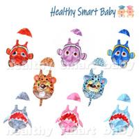 Baju renang / Swimsuit Nemo Baby Shark Tiger Bayi Baby Balita + Topi - S, FotoAja