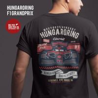 Kaos Vintage Retro Hungaroring Formula 1 Grand prix Distro - L