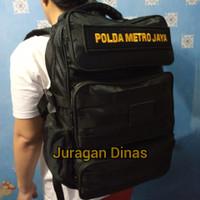 Ransel POLRI Jatah Polda Metro BKO Hitam Brimob Sabhara Original