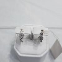 anting emas putih asli 18k 750 perhiasan fashion