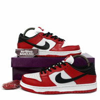Sepatu Sneakers Casual Nike SB Dunk Low J-Pack Chicago Red White Black