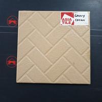 Keramik lantai serat kasar ASIA TILE Galaxy Cream 20x20 Krem wc dapur
