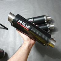 Magna GP long carbon x knalpot leovince old - Putih