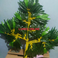 daun bambu artificial plastik palsu dekorasi
