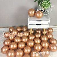 Balon Latex Chrome 5 inch Rose Gold/ Balon Chrome/ Balon Latex Chrome