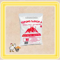 tepung sagu / tapioka cap gunung agung 500 gr / dus / 20 bks