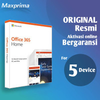 Microsoft Office 365 Family Home - 1 User 5 Device - 1 Tahun