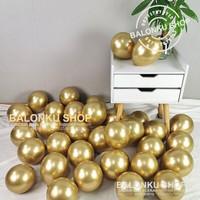 Balon Latex Chrome 5 inch Gold / Balon Chrome / Balon Latex Chrome