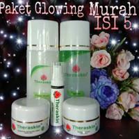 Cream Perawatan Wajah Theraskin Paket isi 5 Glowing plus serum