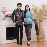 Couple Baju Batik Brukat Sarimbit Kebaya Kondangan Lamaran Keluarga-M