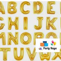 Balon foil huruf gold / balon huruf A-Z