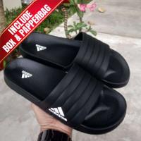 Sandal Pria / Sandal Slide Adidas Premium / Sandal Selop - Hitam, 43