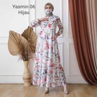 Fashion Dress Gamis Wanita Model Yasmin keren dan Cantik - Cream