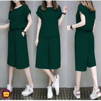 LM 14847 14851 Baju Setelan Wanita Celana Tanggung SET NEW CLARA