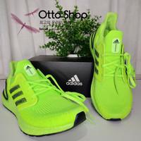 Sepatu lari Running Shoes Adidas Ultra Boost 20 ORI BNIB hijau stabilo
