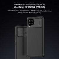 Hard Case SAMSUNG Galaxy A42 5G Nillkin Camshield Casing Original - Hitam