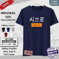 kaos pria distro original cotton combed 30s premium casual Korea bacot