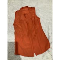 Preloved kemeja wanita / kemeja orange / atasan wanita / kemejakutung