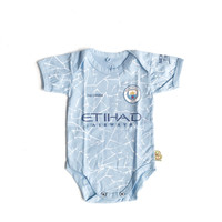 Baju Kaos Bola Bayi Anak Perempuan Laki Lucu I Manchester City Home