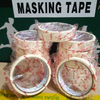 "LAKBAN KERTAS/ MASKING TAPE 1""(24MM × 11M) MURAH!!! BEST QUALITY"