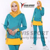 Setelan Baju Training OlahRaga Senam Plat / Baju senam Jumbo wanita