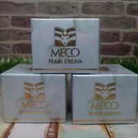 Meco pearl cream 12g/Krim siang/meco krim/alas bedak meco