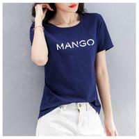 KAOS DISTRO WANITA MANGO/TSHIRT ONECK MANGO/BAJU WANITA COMBED 30s